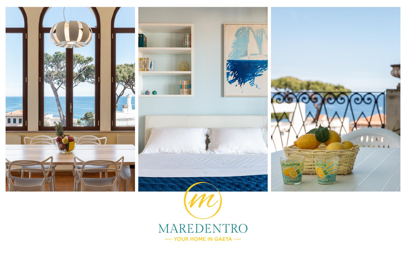 asa vacanza gaeta mare serapo spiaggia appartamento panoramico MareDentro Gaeta Formia Sperlonga terrazza cucina camere B&B
